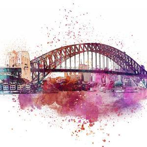 Sydney Harbor Bridge 4 - Square by Lebens Art