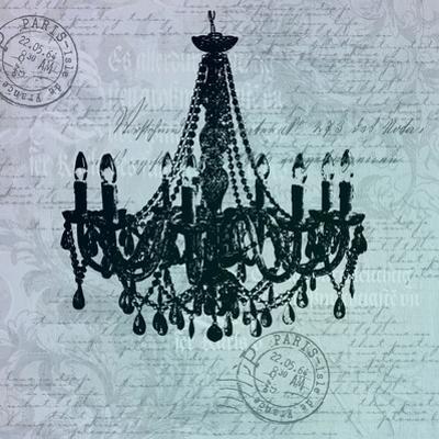 Teal Baroque Chandelier by Lebens Art