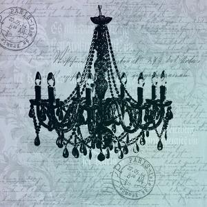 Teal Baroque Chandelier by Lebens Art