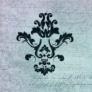 Teal Baroque Ornament by Lebens Art