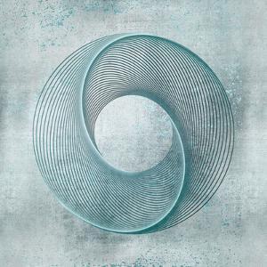 Teal Line Art by Lebens Art