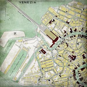 Venezia Map - Square by Lebens Art