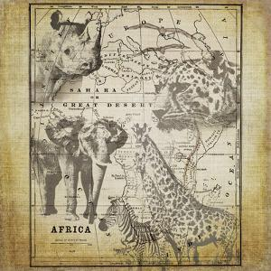 Vintage Africa - Square by Lebens Art