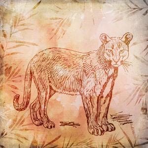 Vintage Animal Color 5 by Lebens Art