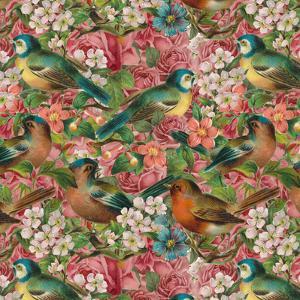Vintage Flower Bird - Square by Lebens Art