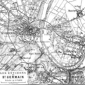 Vintage Paris Map - Square by Lebens Art