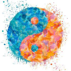 Yin Yang - Square by Lebens Art