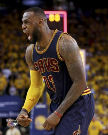 LeBron James #2 Celebrates in Game 2 of the 2015 NBA Finals