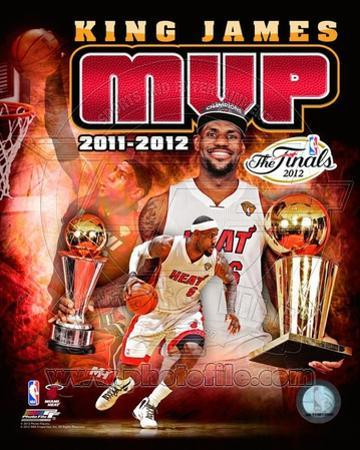LeBron James 2012 NBA MVP Portrait Plus