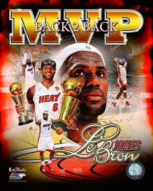 LeBron James 2013 NBA Finals MVP Portrait Plus