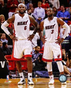 LeBron James & Dwyane Wade 2011-12 Action