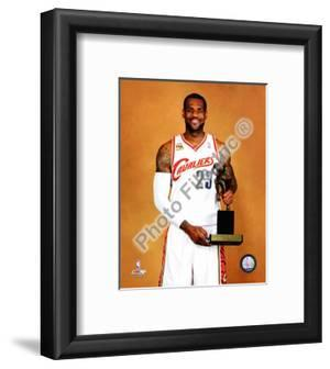 LeBron James with the 2009-10 MVP Trophy