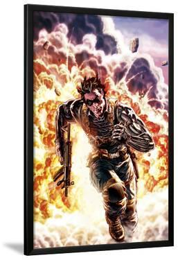 Winter Soldier No.4 Cover: Winter Soldier Escaping an Explosion by Lee Bermejo