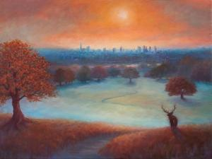 City View London from Richmond Park), 2017 by Lee Campbell