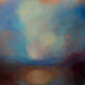 Dreaming Blue  2020  (oil on canvas) by Lee Campbell