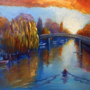 Eel Pie Island  2020  (oil on canvas) by Lee Campbell