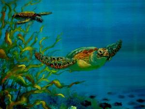 Green Turtle, 2018 by Lee Campbell