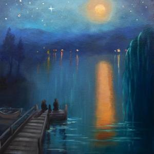 Moonlight, 2019, (oil on canvas) by Lee Campbell