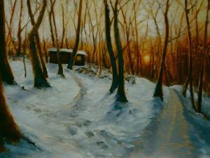 Snowy Woods 2002 by Lee Campbell