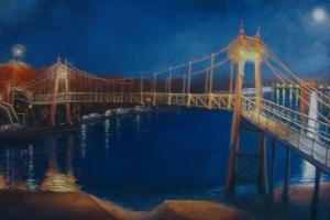 Teddington Lock, 2005 Moonlight by Lee Campbell
