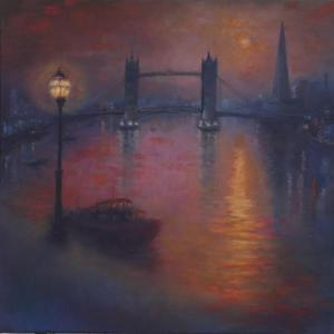Thames Nocturne, 2005 by Lee Campbell