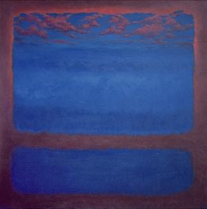 Ultramarine, 2001 Abstract Blue by Lee Campbell