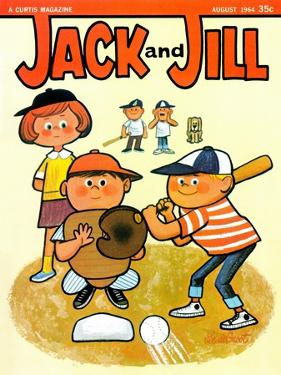 Batter Up - Jack and Jill, August 1964 by Lee de Groot