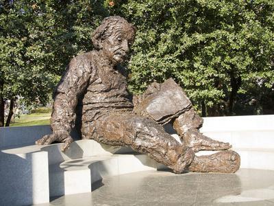 Albert Einstein Sculpture, Washington DC, USA, District of Columbia
