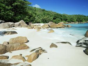 Beach, Anse Lazio, Praslin Island, Seychelles, Indian Ocean, Africa by Lee Frost