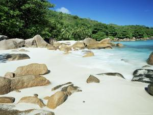 Beach, Anse Lazio, Praslin Island, Seychelles, Indian Ocean, Africa by Lee Frost
