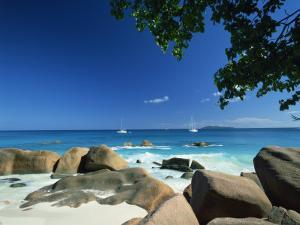 Beach Scene, Anse Lazio, Praslin, Seychelles, Indian Ocean, Africa by Lee Frost
