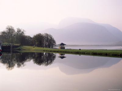 Ben Nevis Reflected in the Caledonian Canal, Early Morning, Corpach, Western Highlands, Scotland by Lee Frost