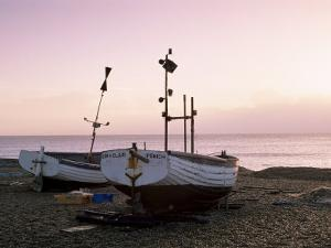 Boats and Beach at Dawn, Aldeburgh, Suffolk, England, United Kingdom by Lee Frost