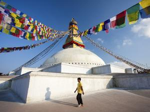 Bodhnath Stupa (Boudhanth) (Boudha) One of the Holiest Buddhist Sites in Kathmandu, UNESCO World He by Lee Frost
