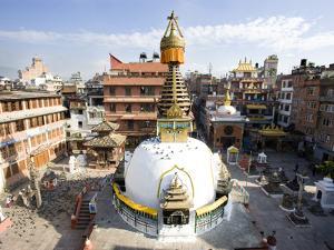 Buddhist Stupa in the Old Part of Kathmandu Near Durbar Square, Kathmandu, Nepal, Asia by Lee Frost