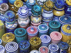 Ceramics for Sale in the Souk in the Medina, Marrakesh, Morocco, North Africa, Africa by Lee Frost