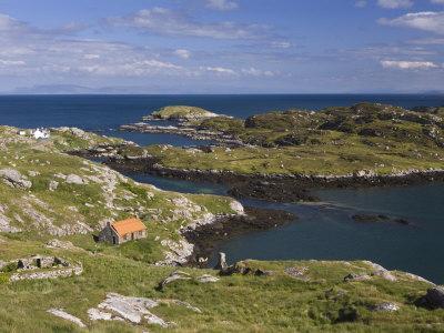 Deserted Crofts at Township of Manish, Isle of Harris, Outer Hebrides, Scotland, United Kingdom