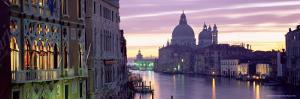 Dusk Along Grand Canal Towards Santa Maria Della Salute from Accademia Bridge, Veneto, Italy by Lee Frost