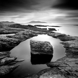 Erratic in Tidal Pool on Isle of Taransay, Outer Hebrides, Scotland, UK by Lee Frost