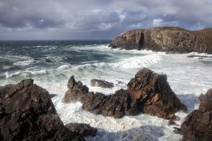 Heavy Seas Pounding the Rocky Coastline at Dalbeg by Lee Frost