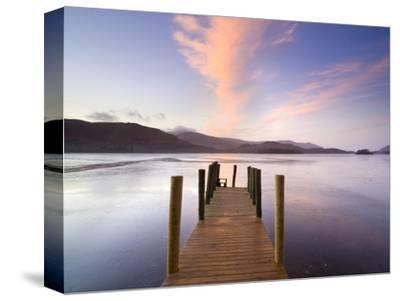 Jetty and Derwentwater at Sunset, Near Keswick, Lake District National Park, Cumbria, England, Uk by Lee Frost