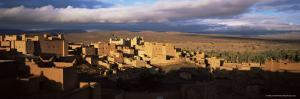 Kasbah Bathed in Storm Light, Nkob, Morocco, North Africa, Africa by Lee Frost