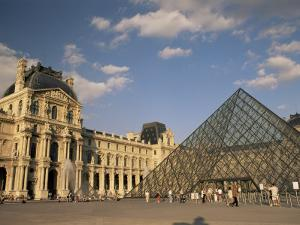 La Pyramide and the Musee Du Louvre, Paris, France by Lee Frost