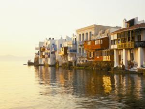 Little Venice at Sunset, Mykonos Town, Mykonos, (Mikonos), Greek Islands, Greece by Lee Frost
