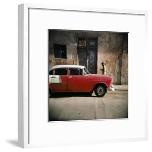 Old Red Car, Havana, Cuba, West Indies, Central America by Lee Frost