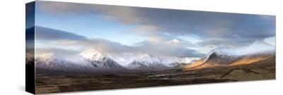 Panoramic View Across Rannoch Moor Towards Mountains of the Black Mount Range, Scotland by Lee Frost