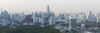 Panoramic View of the City Skyline from the Roofbar of the Sofitel So Hotel on North Sathorn Road by Lee Frost