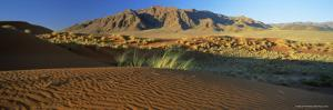Panoramic View Over Dunes and Mountains, Namib Rand, Namib Naukluft Park, Namib Desert, Namibia by Lee Frost