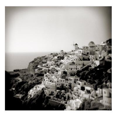 Polaroid of View of the Village of Oia, Santorini, Cyclades, Greek Islands, Greece, Europe by Lee Frost