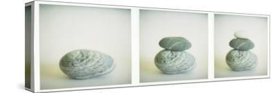 Polaroid Triptych of Sea-Worn Pebbles Created Using Three Polaroid Images by Lee Frost